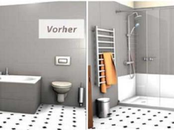 Umbau Wanne-zu-Dusche